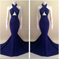 2015 new hot sexy fashion Mermaid long dress in stock blue color outlet