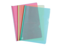 plastic file folder with slide spine bar