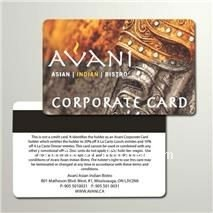 free samples supply PVC magnetic card for corporate