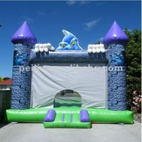 little devil air bouncer inflatable trampoline, bounce house, bouncy