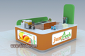 Shopping mall juice bar kiosk, fruit juice kiosk and retail juice shop interior design for sale