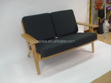 Shenzhen danish designer furniture hans wegner 2 3 seater plank sofa replica