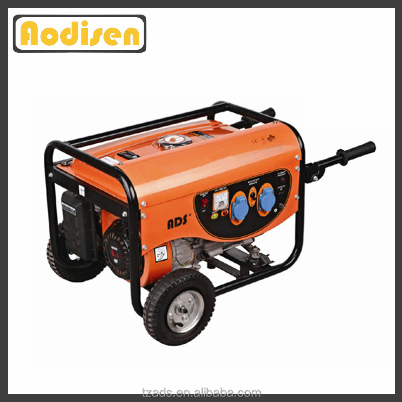 hand start 3600rpm 13hp carbon brush self excitation petrol generator 5kw