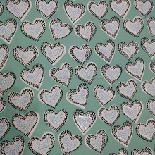 Heart Pattern Printed Fabric For Baby Chair Cloth