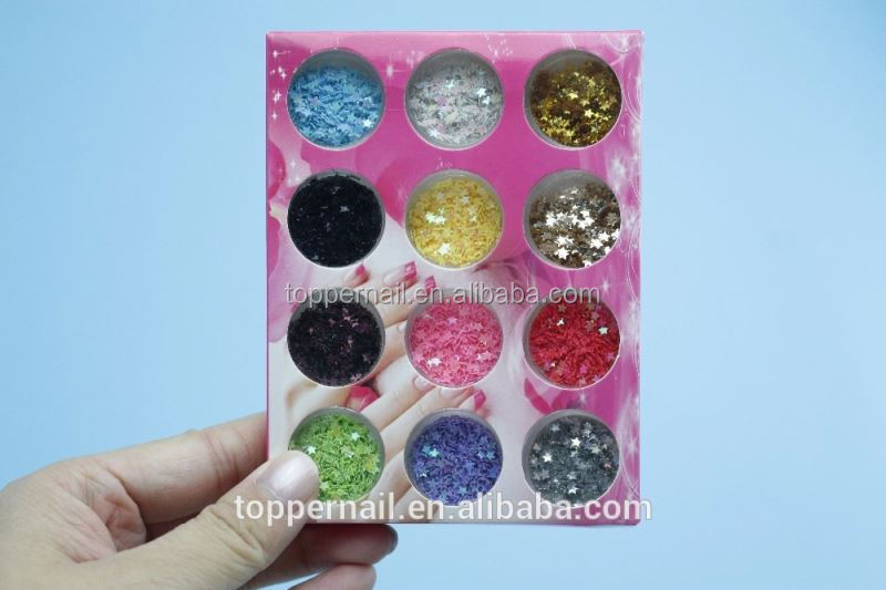 12 Wholesale Colors Nail Glitter Powder for Nail Decoration Rhinestone Sparkly Stone