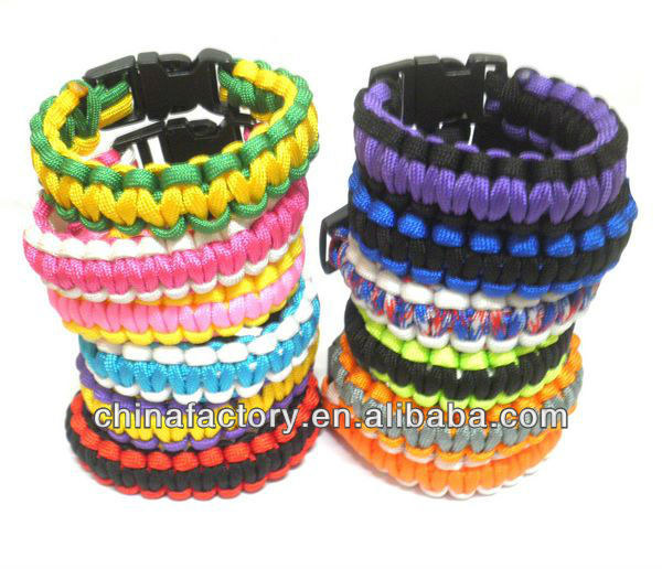 Wholesale Cheapest Stock Velcro Clasp Paracord Bracelet
