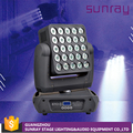 Competitive Price Stage Wash 25 Pcs 4 In 1 Leds Rgbw Dmx512 16/37/112 Channels Control Led Matrix Light