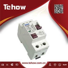 Tehow good quality electrical switch mcb rccb Earth Leakege Residual Current Circuit Breaker RCCB 6kA