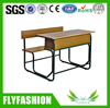 Wood and steel chairs/antique student desk /double school desk and chair