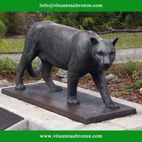 2015 new produced home decor bronze panther statues for sale