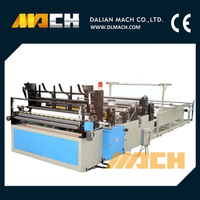 CE Certification PLC Control Automatic Toilet Tissue Paper Roll Processing Making Machine Equipment