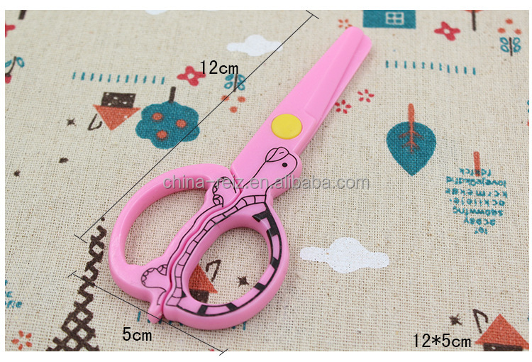 Cute fancy Safety school beauty children/student scissors for paper cutting round corner safety scissors