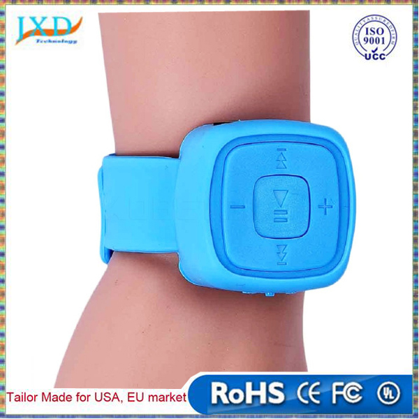 Portable Sport Mini MP3 Music Player Wrist Watch Waterproof MP3 Player With Micro TF Card Slot USB Flash Dish