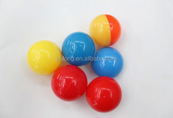 small ball shape plastic capsule egg toys for kids
