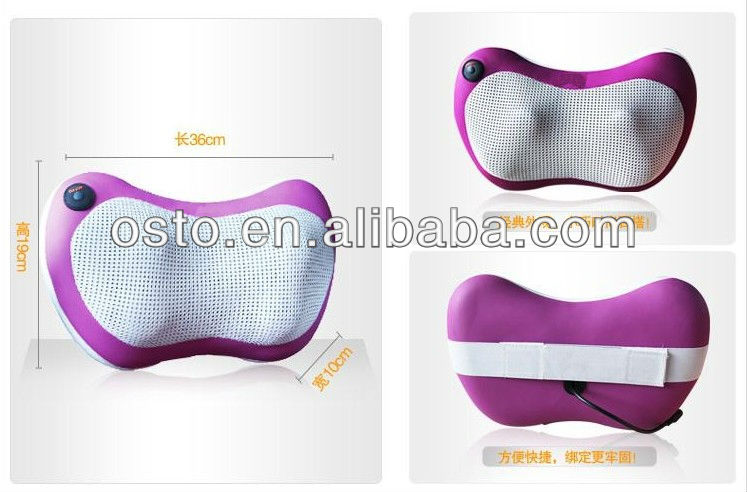 Car Using Half Back Massager with Heat and handheld massageing controller