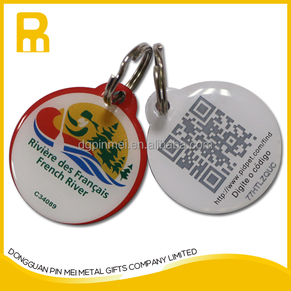 China smart qr pet tags /scanner reader qr code pet tag