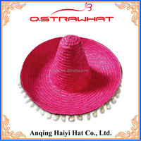 Wholesales HYSH91 sun lady colombian party straw hat
