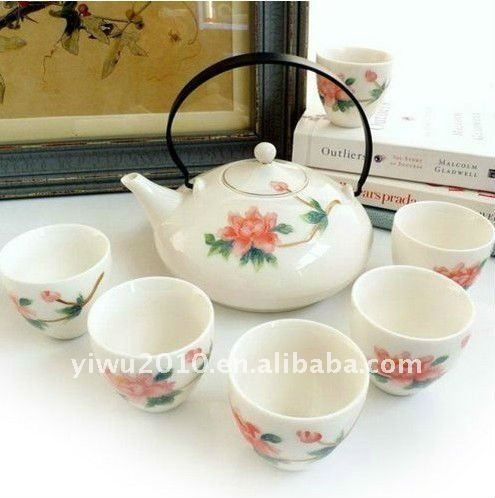 fine bone china 7-piece tea set