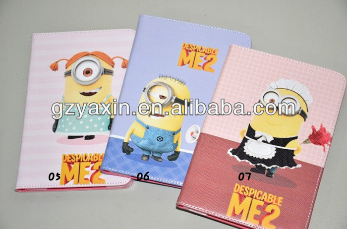despicable me 2 minions leather case cover,leather case for ipad leather case