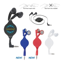 Custom Printed Retractable Travel Ear Buds