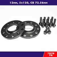 7075 t6 hubcentric 12mm 5x120 aluminum wheel spacer bore 72.56 with 12x1.5 extended bolts for car bmw