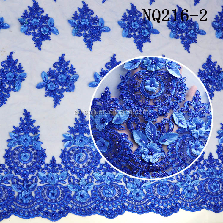 african lace fabrics latest french net lace 2016 royal blue french net lace with beaded appliques