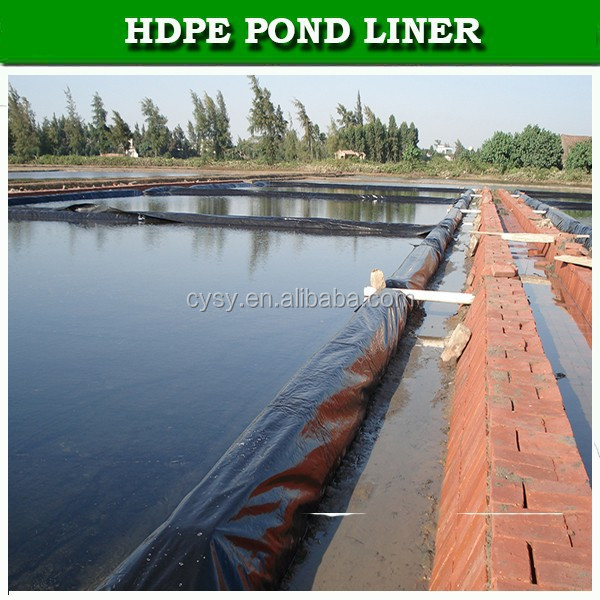 Professional durable hdpe / ldpe geomembrane pond liner for sale