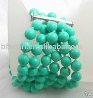 Fashion jewelry,natural turquoise bracelet with 925 sterling silver clasp
