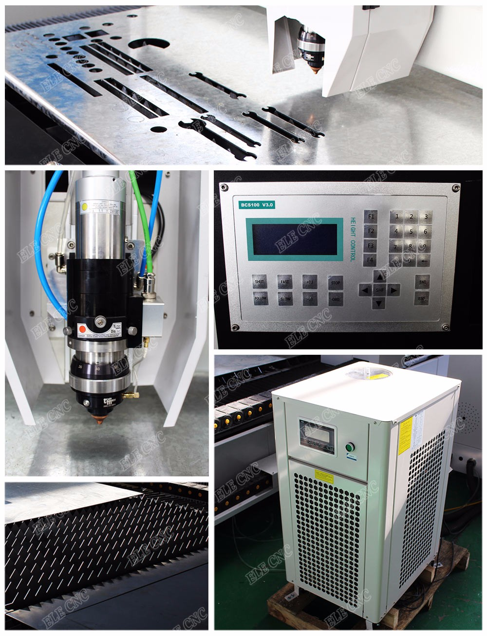 Metal cutting stainless steel fiber laser machine , laser engraving machine , laser engraver with 1500*3000mm working area