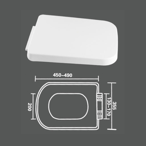 wc accessories pp square toilet seat lid cover with low price