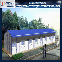 Cheap insulated steel frame prefabricated temporary camp prefab house