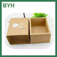 kraft paper custom boxes with logo/small kraft brown paper boxes/customized paper watch boxes with draw