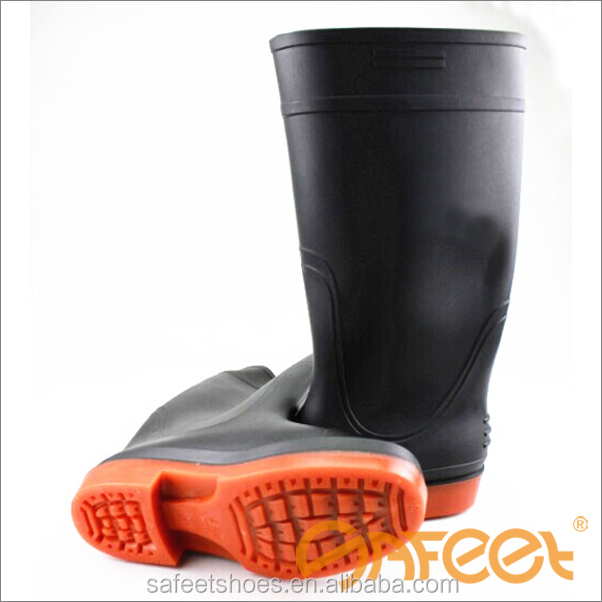 China cheap price high cut farming PVC water resistant working shoes, water proof shoe, waterproof shoes for man factory SA-9912