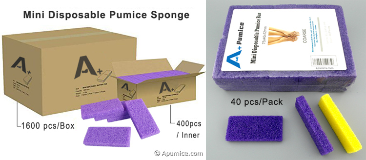 Disposable Pumice sponge Packing