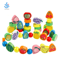 YF-D2138 educational New creative intelligent wooden DIY bead game toys for kids