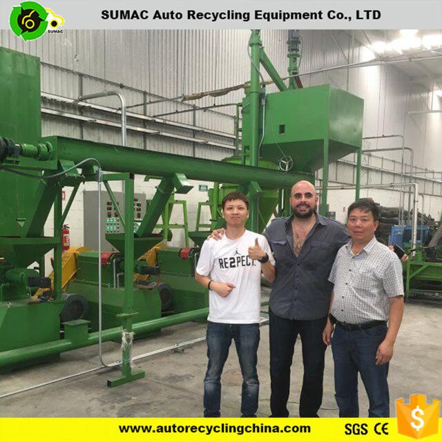 automatic China best tire recycling machine