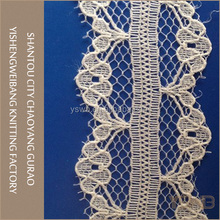 Factory wholesale new style knitted non-elastic trimming lace guangzhou