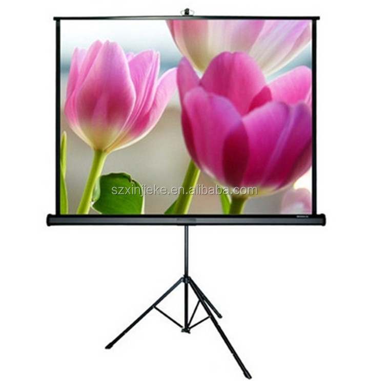 Wholesale Low Cinema Screen Price Tripod Stand Home Made Projector Screen