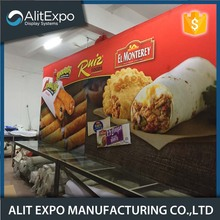 The lowest price trade show display booth with tension fabric from China famous supplier