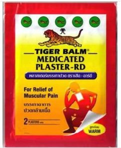TIGER BALM RED ULTRA STRONG PAIN RELIEF PLASTER HOT