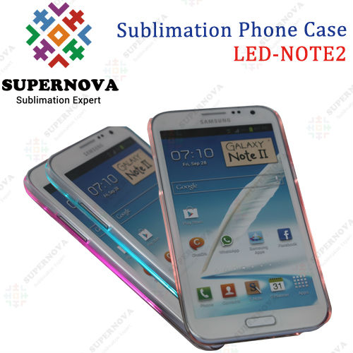 2014 Sublimation LED Cell Phone Case for Samsung Galaxy NOTE2 (N7100)