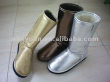 2012 new style rivet fish-like mouth pu snow boot