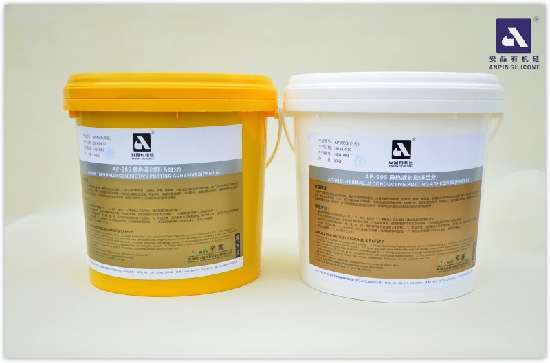 ANPIN SILICONE 905 Grey Addition Cure 2-part Thermally Conductive Silicone Encapsulant and Pottant