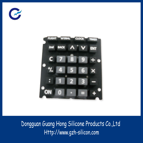 high quality printing Water resistance silica gel keypads