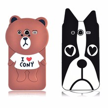 Silicone animal cartoon phone housing for samsung galaxy