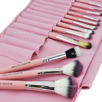 Beauties Factory 12pcs Kawaii Pink Makeup Brush Set