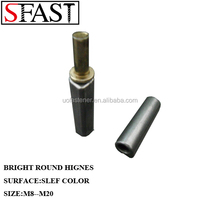 BRIGHT M.S. CROWN HEAD ROUND HINGES