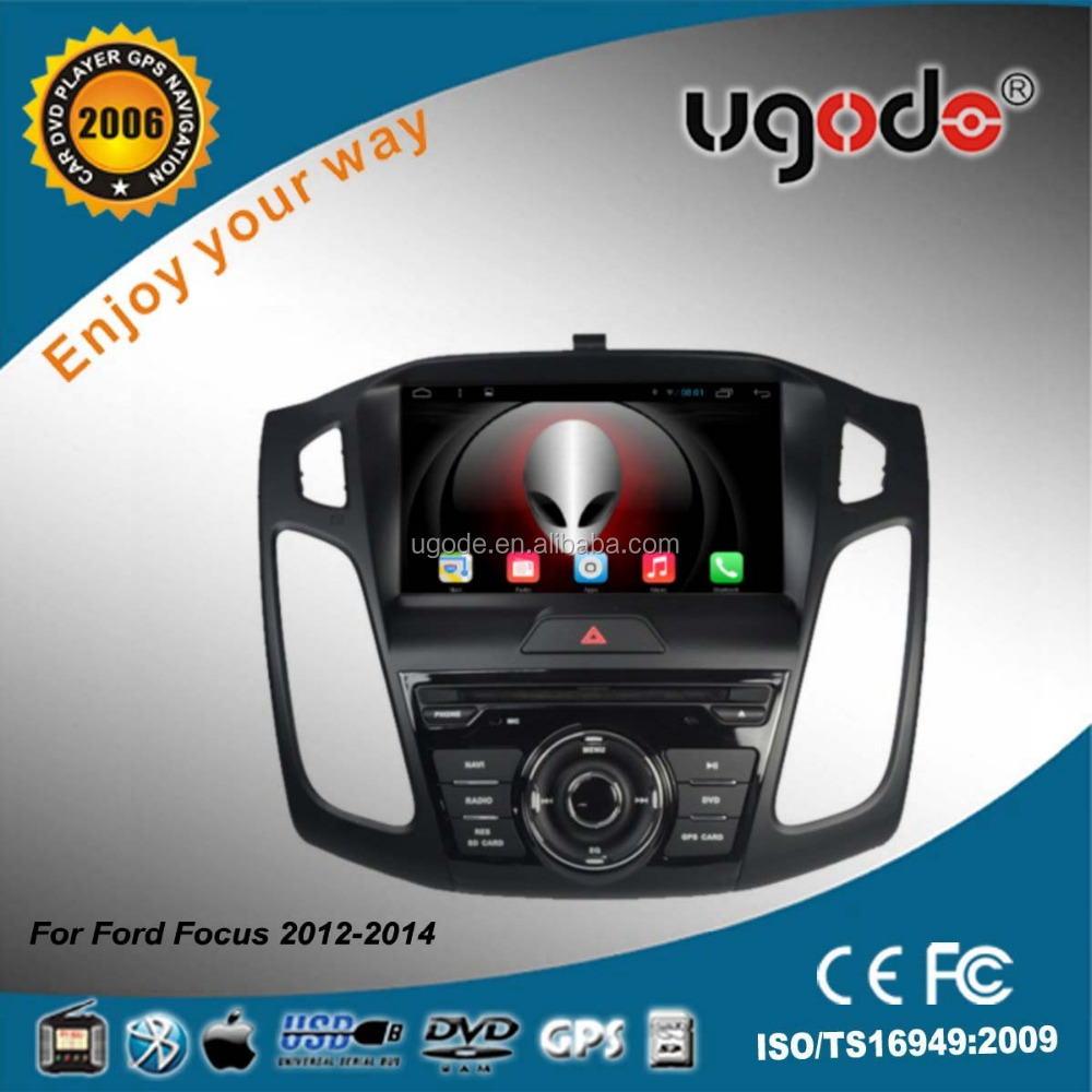 ugode factory supply car dvd with gps player single din car audio for ford f-o-c-u-s