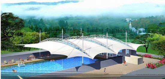 PTFE ETFE PVDF Architecture Tent Membrane Structure Swimming poo landscape Canopy