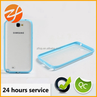 Transparent phone case phone accessories Tpu pc hybrid cover case for Samsung galaxy note 2